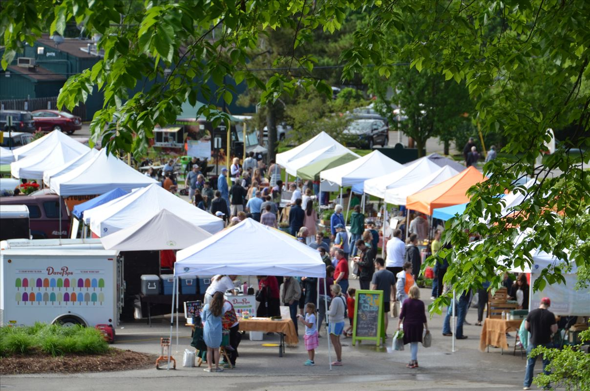 Find fresh, local food at the East Lansing  Farmers Market!
