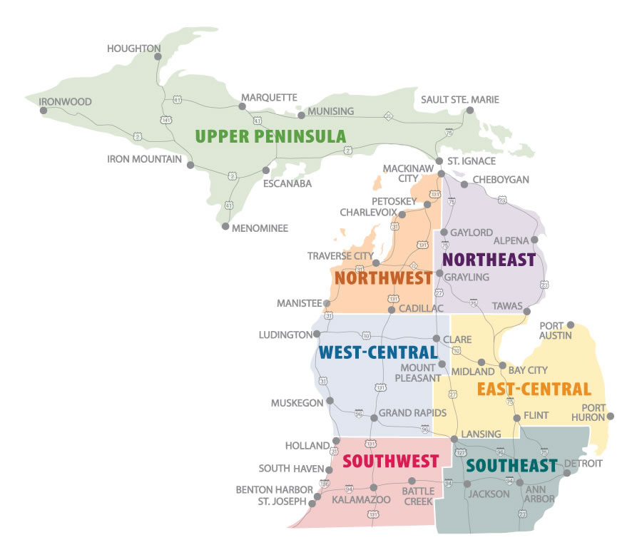 Michigan Agritourism Regions